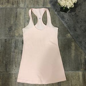 Lululemon cool racerback tank size 4 in shell pink
